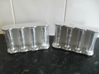 £4.50 • Buy Wedding Cake Pillars Round & Silver 3.5  Tall Price Is For 2 Packs Of 4