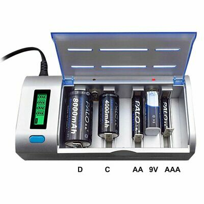 £24.67 • Buy LCD Smart Battery Charger For AAA AA C D 9V Ni-MH Ni-CD Rechargeable Batteries