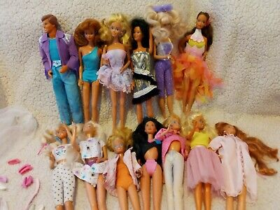 $ CDN36.28 • Buy Vintage Barbie Lot With American Beauty Vinyl Case Bundle Clothes Shoes +