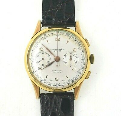 $ CDN168.68 • Buy Vintage Large Swiss Chronograph Wrist Watch ESTATE FIND