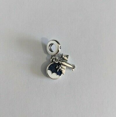 NEW Propeller Plane Charm, Sterling Silver, S925 ALE, Pandora, Cubic Zirconia • 2£
