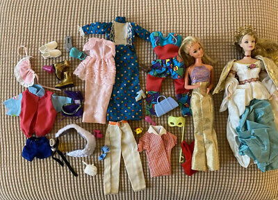 $ CDN12.08 • Buy 1980 Vintage Barbie Doll Lot - 2 Dolls And Clothes And Accessories