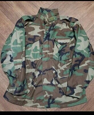 $50 • Buy M65 1999 WOODLAND Camo Field Jacket.         LARGE LONG 👍  Cleaned