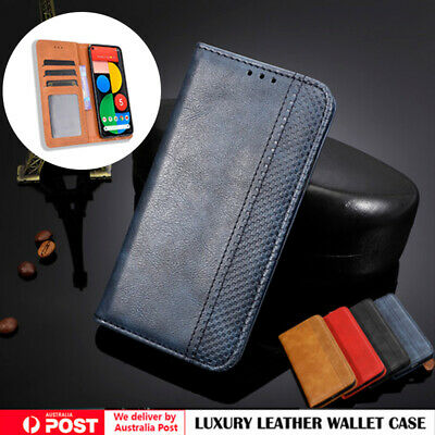 AU13.99 • Buy For OPPO A5/A9 2020 Find X2 A52 Ax5s A15 Realme 7 Case Leather Wallet Flip Cover