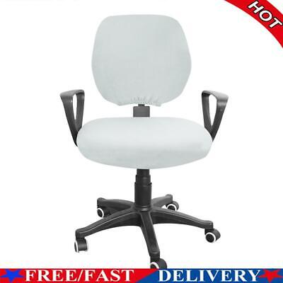 AU9.80 • Buy Spandex Stretch Computer Chair Cover Home Office Chairs Seat Case (Grey)