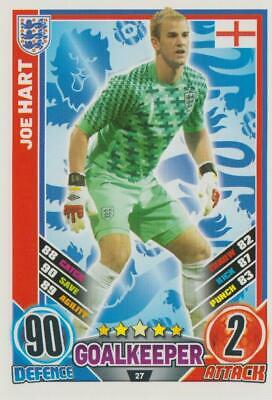 £1 • Buy Match Attax Topps Football Euro 2012 Trading Card #27 Joe Hart England Player