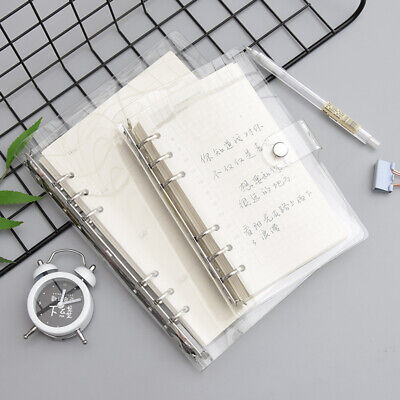 AU12.37 • Buy Transparent Baggy Leaf Ring Binder Notebook Weekly Planner Diary Cover A5/A6