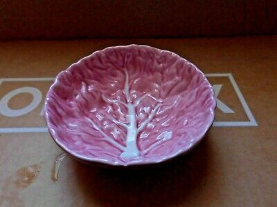 £9 • Buy Vintage  Pink Cabbage Leaf   Small Dish Made In Portugal  Unboxed As Shown