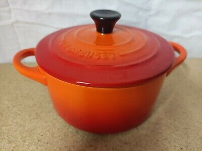 £24.99 • Buy Le Creuset Mini Casserole Dish 14cm Diameter Volcanic Orange Stonewear