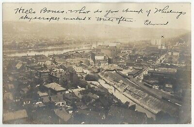 $ CDN24.17 • Buy 1906 Wheeling, West Virginia #1 - REAL PHOTO Overview Of Town, Old Postcard