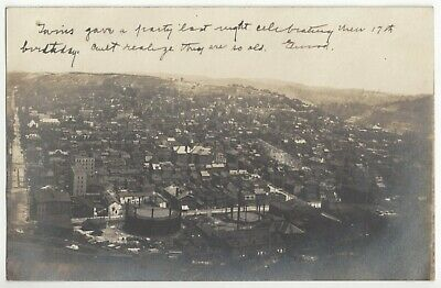 $ CDN24.17 • Buy 1906 Wheeling, West Virginia #2 - REAL PHOTO Overview Of Town, Old Postcard