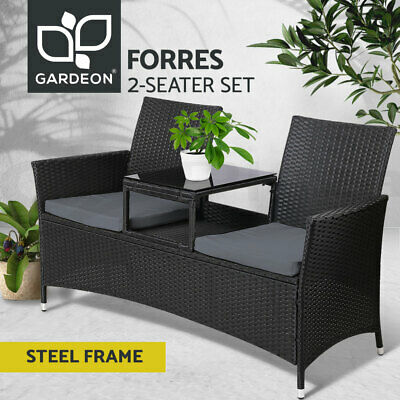 AU219.90 • Buy Gardeon Patio Furniture Outdoor Lounge Setting Wicker Chairs Table Cushion