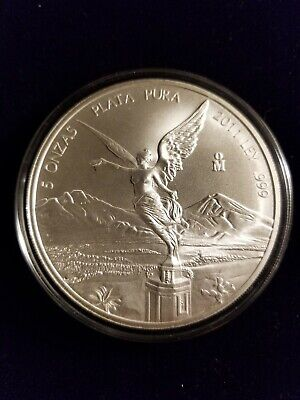 AU209.11 • Buy 2011 Mexico 5oz Silver Libertad Coin MS In Capsule Low Mintage HARD TO FIND