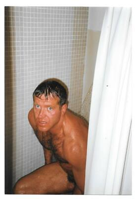 $ CDN4.83 • Buy Shirtless Man With Hairy Chest In Shower Vintage Snapshot Photo Gay Interest