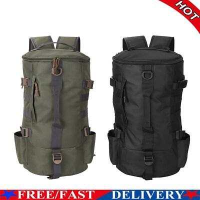 AU27.74 • Buy Large Capacity Fishing Tackle Backpack Cylindrical Fishing Gear Storage Bag
