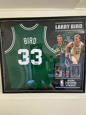 AU750 • Buy Larry Bird Jersey SIGNED & FRAMED (AUTHENTICATED)