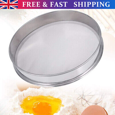 £16.25 • Buy 30cm Stainless Steel Round Flour Sifter Shaker Mesh Cake Flour  Micron Sieve New