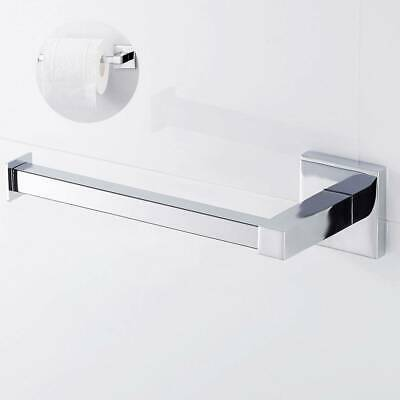 AU15.29 • Buy Chrome Wall Hook Mounted Toilet Paper Roll Holder Stand Bathroom Storage🏆