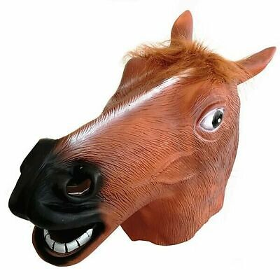 £8.95 • Buy Rubber Horse Head Mask Panto Fancy Party Cosplay Halloween Adult Costume