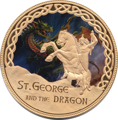 £14.95 • Buy Coin Proof 2017 Commemorative St George And The Dragon Myths And Legends + COA 4