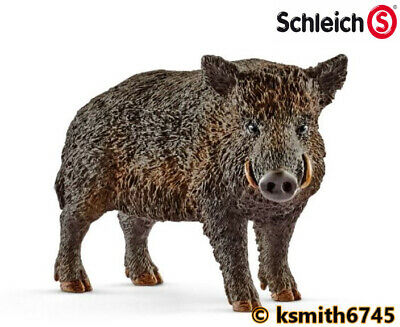 £6.25 • Buy Schleich WILD BOAR Solid Plastic Toy Zoo Woodland Animal Brown * NEW *💥