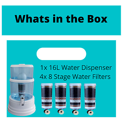 AU119 • Buy Aimex Water Filter Dispenser 8 Stage Water Filter Purifier Extra Filters 16L Jug