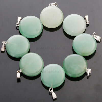 $ CDN19.52 • Buy Wholesale Lots 20pcs Round Natural Aventurine Stone Beads Pendants Jewelry FREE