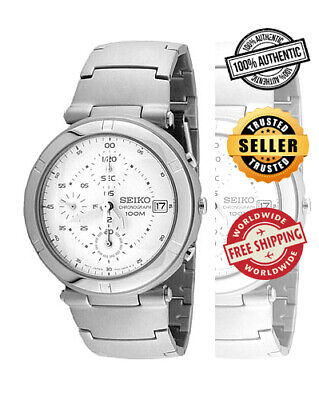 $ CDN136.63 • Buy SEIKO Chronograph SND103 SND103P1 Mens White Dial Stainless Steel Watch