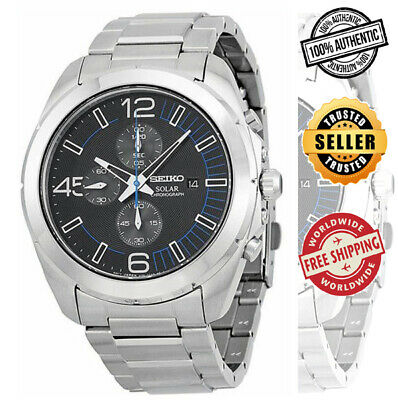 $ CDN188.62 • Buy Seiko Solar Chronograph SSC213 SSC213P1 Men's Steel 100m Watch