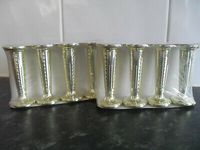 £4.50 • Buy Wedding Cake Pillars - Round & Gold 3.5  Tall - Price Is For 2 Packs Of 4