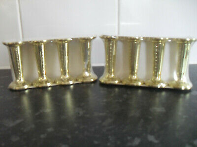 £4.50 • Buy Wedding Cake Pillars - Round & Gold 3  Tall - Price Is For 2 Packs Of 4