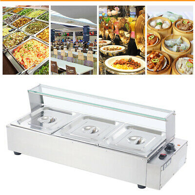 £125.95 • Buy Electric Bain Marie 3x 1/2 Pan Gastronorm Pans Stainless Steel Hot Food Display