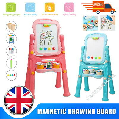£21.99 • Buy Children Magnetic Drawing Board Easel Double Sided Folding Kids Doodle Sketchpa