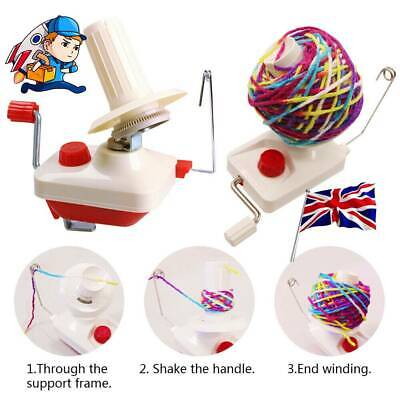1PC Hand Operated Knitting Roll String Yarn Fiber Wool Thread Ball Winder Holder • 16.49£