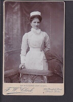 £3 • Buy Victorian Cabinet Card - Mad? Cook? - Photo F.W.Clark, London Forest Gate