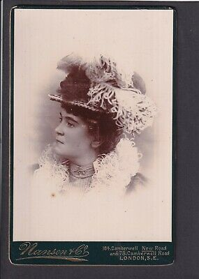 £5.70 • Buy Victorian Cabinet Card - A Lady - Photo Nansen & Co, London