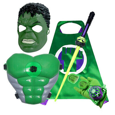 £7.99 • Buy Avengers Hulk LED Shield Light Up Mask Sword Party Cosplay Prop Kids Toy Gift