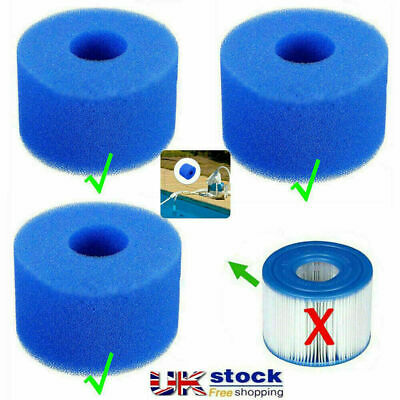 £6.99 • Buy UK Lay In Clean Spa Hot Tub S1 Washable Bio Foam VI LAZY Filter