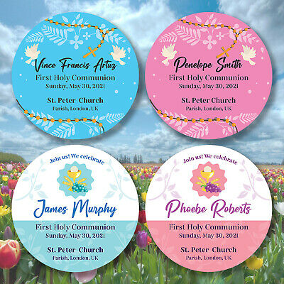 £2.14 • Buy Personalised Holy Communion Confirmation Baptism Christening Gloss Stickers