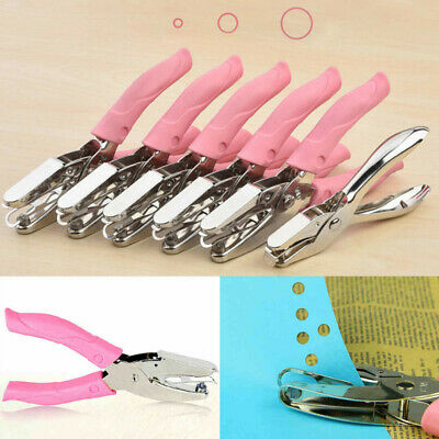 AU12.52 • Buy Stationery Heart Circle Shape Hole Punch Hand Tool Paper Cutter Single Hole