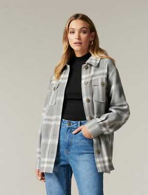 AU60 • Buy $ale - FOREVER NEW Rain Check Shacket Grey Check - DI$COUNT PRICE