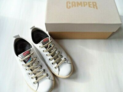 £10.99 • Buy Camper Imar White Leather Lace Up Trainers-size 4 Uk/37 Eu/7 Us Excellent