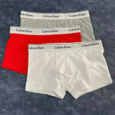 £10.99 • Buy Men Boxer Trunks Shorts Underwear Briefs Cotton Stretch-Pack Of Calvin Klein Kc
