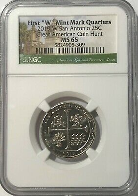 $ CDN12.70 • Buy 2019 W NGC MS65 TEXAS SAN ANTONIO MISSIONS QUARTER GREAT AMERICAN COIN HUNT 25c