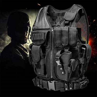 $35.99 • Buy Military Vest Tactical Holster Police Molle Assault Police Gun Holder Airsoft