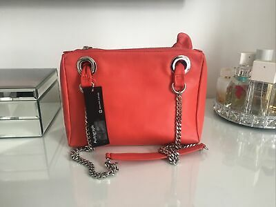 £30 • Buy M&S Autograph Luxurious Red Leather Chain Handle Shoulder Bag New