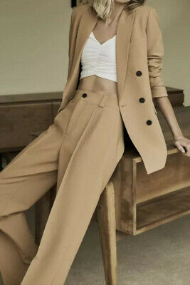 £80 • Buy Zara Double Breasted Co Ord Blazer And Trouser In Camel BNWT SIze Small S