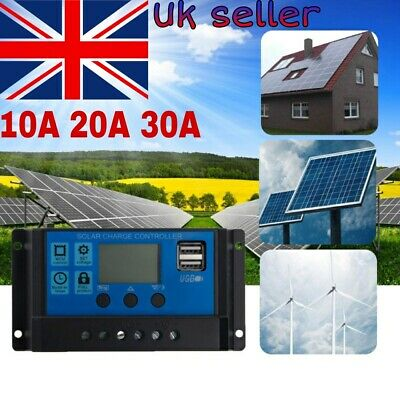£7.89 • Buy Solar Panel Battery Regulator Charge Controller PWM Dual USB Output 10A-30A