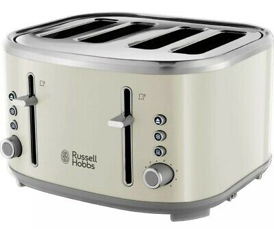 AU27.18 • Buy RUSSELL HOBBS Bubble  4-Slice Toaster - Cream, Ex Display, In Perfect Condition