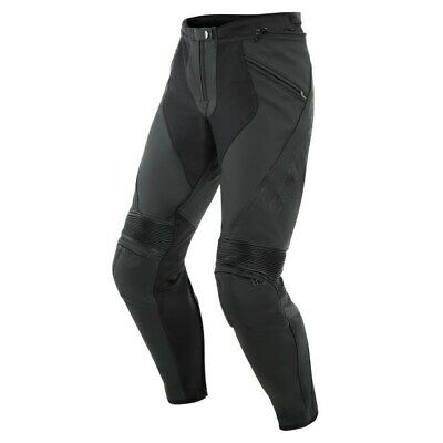 £301.32 • Buy Dainese Pony 3 Leather Trousers Black 27 Touring Biker Trousers New